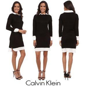 Calvin Klein Two-fer Shirt Dress Sz M/6/8 NWOT, 🎹